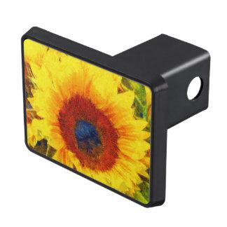 Bright Sunflower Art Trailer Hitch Cover
