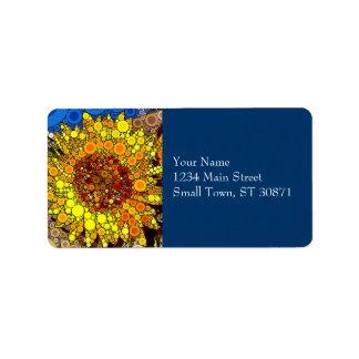 Bright Sunflower Circle Mosaic Digital Art Print