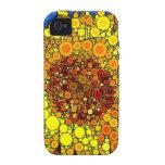 Bright Sunflower Circle Mosaic Digital Art Print iPhone 4 Case