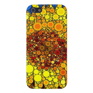 Bright Sunflower Circle Mosaic Digital Art Print iPhone 5/5S Covers