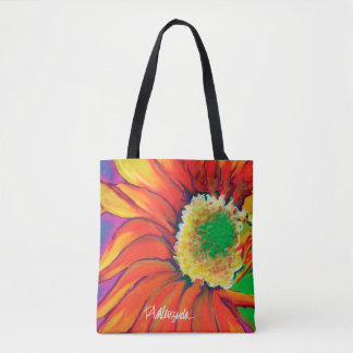 Bright Sunflower Floral Tote