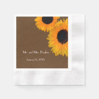 Bright Sunflower Summer Paper Napkin