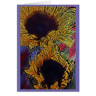 Bright Sunflowers Card