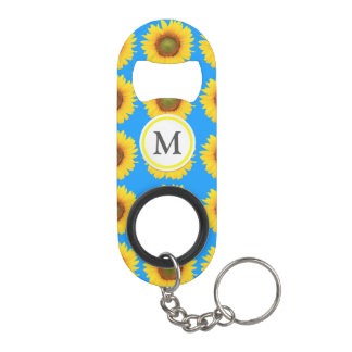 Bright Sunflowers Keychain Bottle Opener