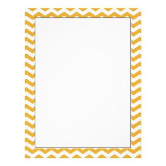 bright sunny yellow chevron zigzag stripes. personalized letterhead
