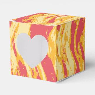 Bright sunrays yellow orange abstract gift box