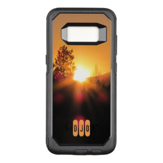 Bright Sunset and your Initials OtterBox Commuter Samsung Galaxy S8 Case