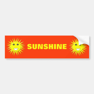 Bright Sunshine Customizable Bumper Sticker