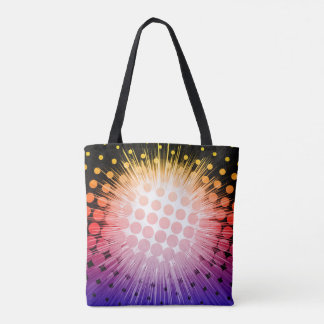 Bright Super Hero Pop Art Tote Bag