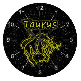 Bright Taurus Large Clock