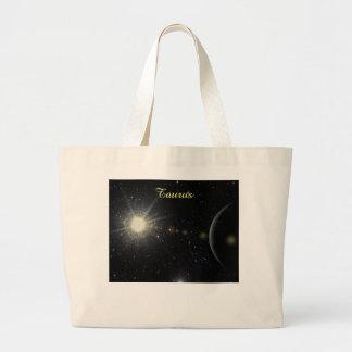 Bright Taurus Large Tote Bag
