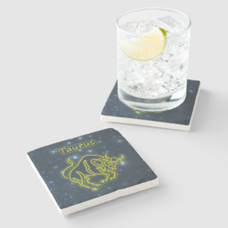 Bright Taurus Stone Coaster