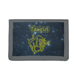 Bright Taurus Trifold Wallet
