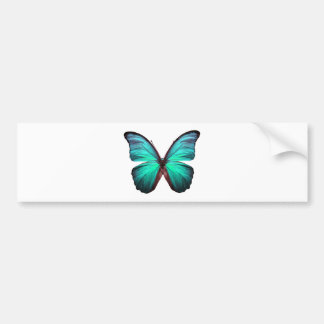 Bright Teal Butterfly Bumper Sticker