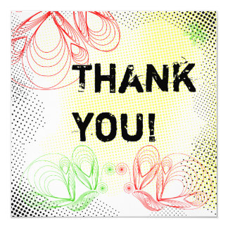 "Bright ""Thank you"" card"