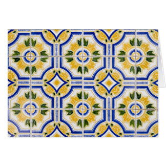 Bright tile pattern, Portugal Card