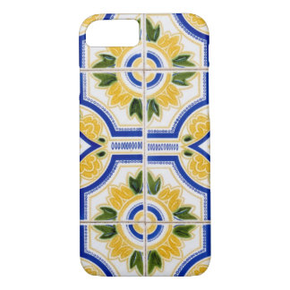 Bright tile pattern, Portugal iPhone 8/7 Case