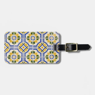 Bright tile pattern, Portugal Luggage Tag