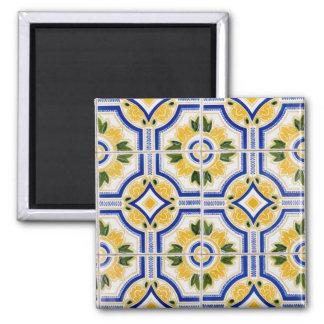 Bright tile pattern, Portugal Magnet