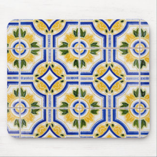 Bright tile pattern, Portugal Mouse Pad