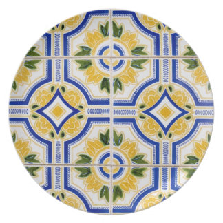Bright tile pattern, Portugal Party Plates