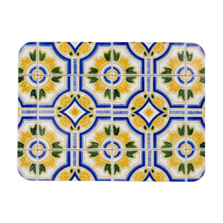 Bright tile pattern, Portugal Rectangular Photo Magnet