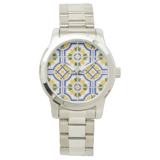 Bright tile pattern, Portugal Wristwatch