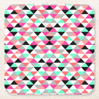 Bright Triangle Pattern Coasters