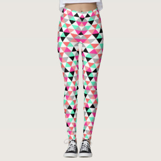 Bright Triangle Pattern Leggings