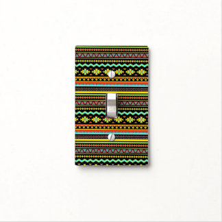 Bright tribal design light switch cover
