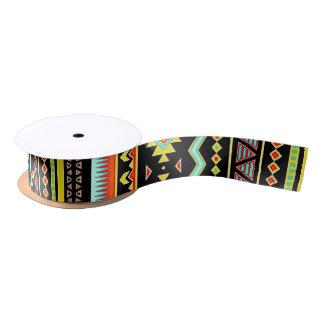 Bright tribal design satin ribbon