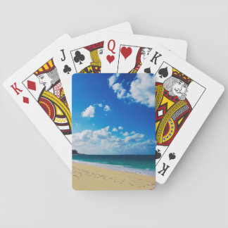 Bright Tropical Beach Playing Cards