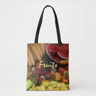 Bright Tropical Fruit Platter Botanical Tote Bag