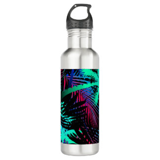 Bright tropical palms 710 ml water bottle