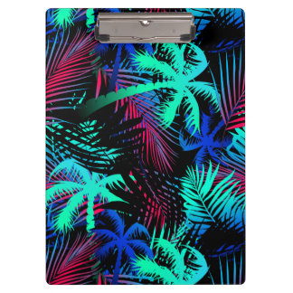Bright tropical palms clipboard