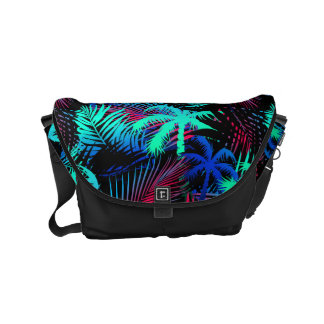 Bright tropical palms commuter bag