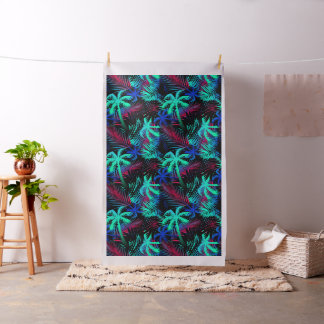 Bright tropical palms fabric