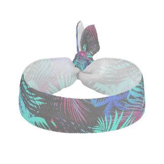 Bright tropical palms hair tie