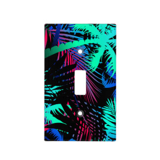 Bright tropical palms light switch cover