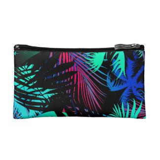 Bright tropical palms makeup bag