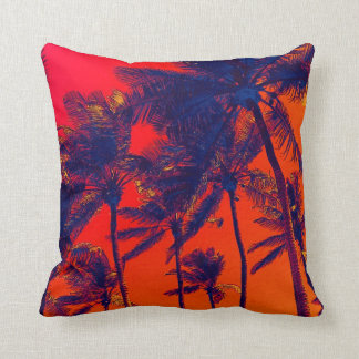 bright tropical palms toss pillows
