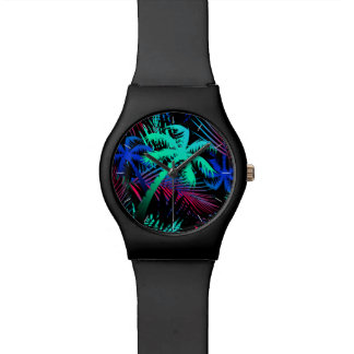 Bright tropical palms watch