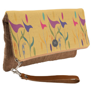 Bright Tropical  Vacation Floral Clutch
