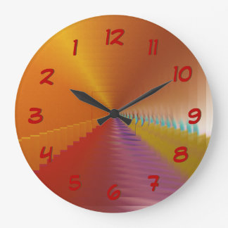 Bright Tunnel Escape Abstract Backwards Clock