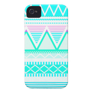 Bright Turquoise Tribal iPhone 4 Case