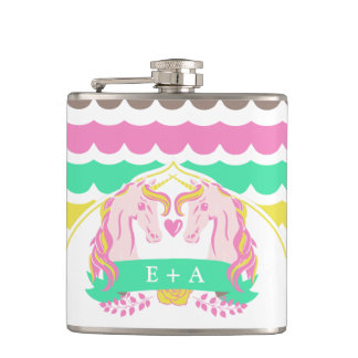 Bright Unicorn Fairytale Flask