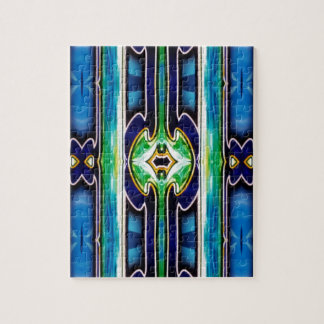 Bright Unique Tribal Pattern Jigsaw Puzzle