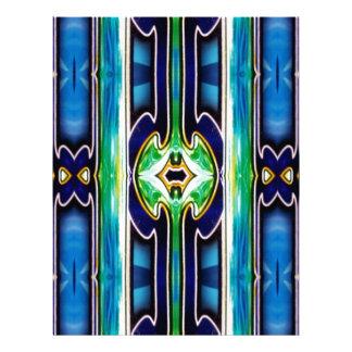 Bright Unique Tribal Pattern Letterhead