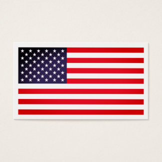 Bright USA Flag, American Business Card