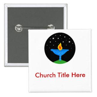 Bright UU Chalice Nametag 2 Inch Square Button